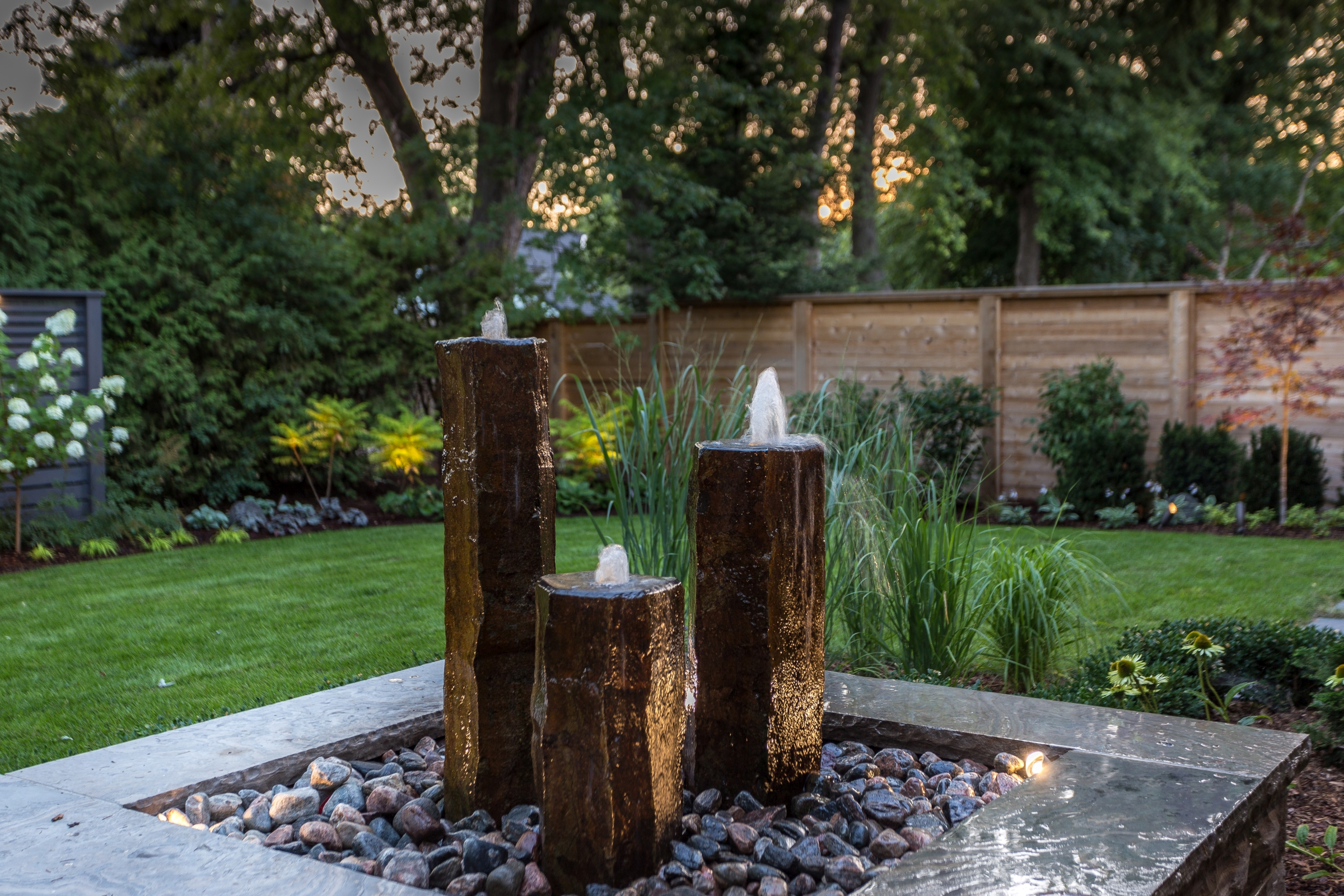 Basalt Column Waterfeature