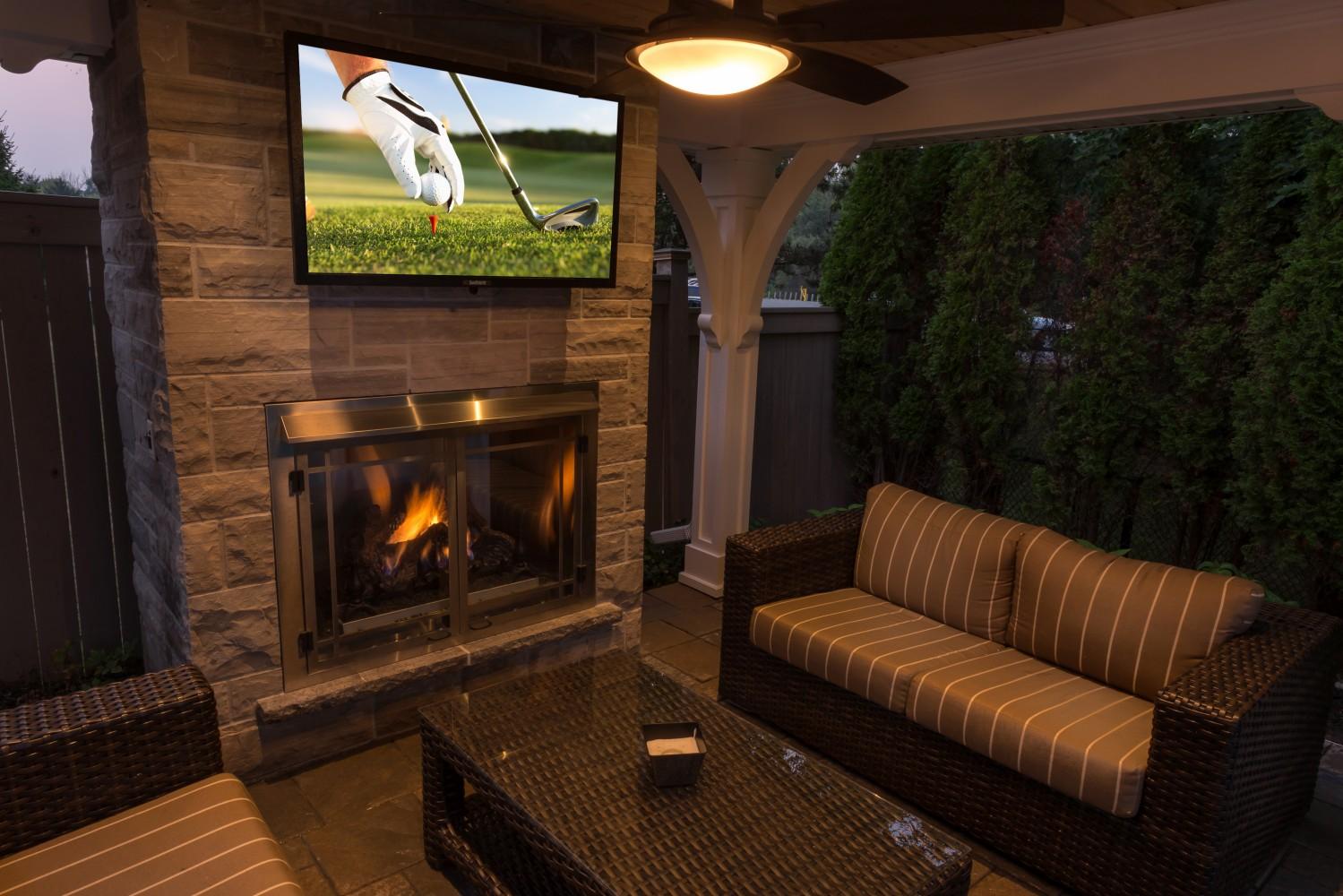outdoor fireplaces oakville u0026 burlington landscaping