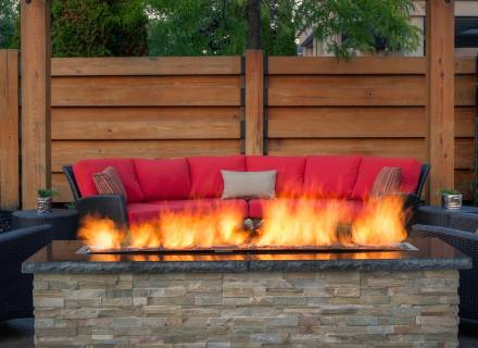 Linear Gas Fire Feature