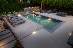 Concrete Patio & Wood Deck
