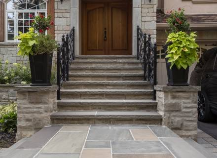 Stone & Wrought Iron Entrance