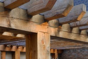 Rough Sawn Timber Pergola