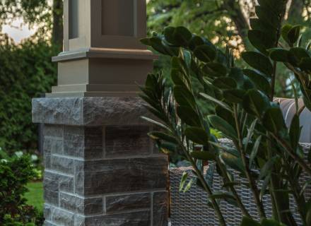 Stone Pillar & Detailed Post